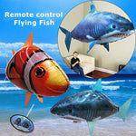 Air Swimmers Remote Control Flying Shark & Clownfish