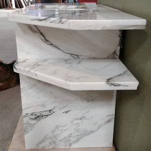 Marble Vanity in White and Black