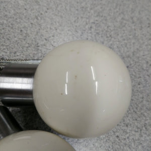 Pair of White Ball Door Knobs