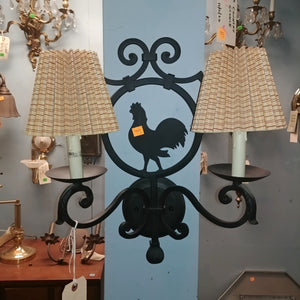 Two Light Rooster Sconce
