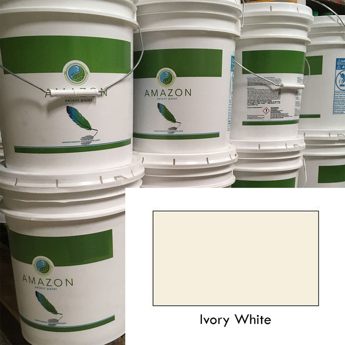5-Gallon Amazon Select Paint: Ivory White