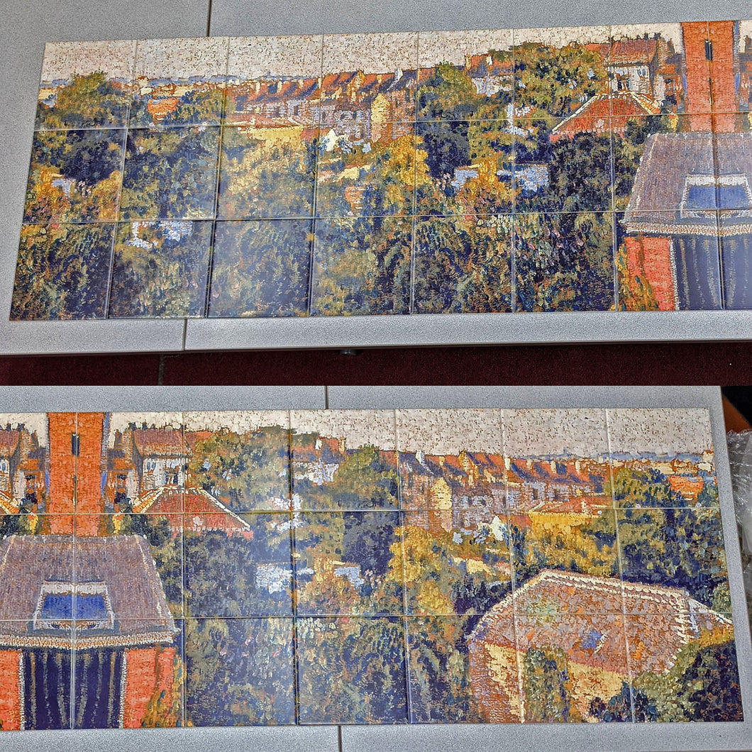Long Forest Town Scene Ceramic Tile Mural