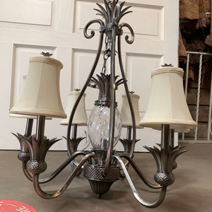 Pineapple Chandelier with Nickel Finish by Hinkley Lighting