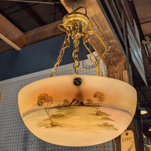 Load image into Gallery viewer, Antique Hand Painted Bowl Chandelier