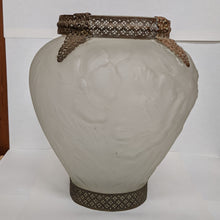 Load image into Gallery viewer, Antique Consolidated Glass Vase with Ormolu Mounts
