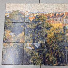 Load image into Gallery viewer, Long Forest Town Scene Ceramic Tile Mural