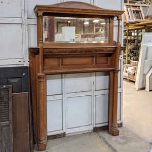 Vintage Fireplace Mantel with Mirror