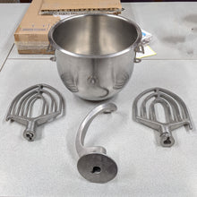 Load image into Gallery viewer, 20 Quart Mixing Bowl and Three Attachments for Hobart A-200 Mixer