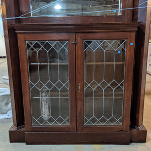 Antique Fireplace Mantel with Bookcase