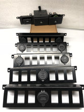 Land Rover LR3 Auxiliary 5-switch slots bezel w/2 dual USB Chargers 4.2V w/Voltage