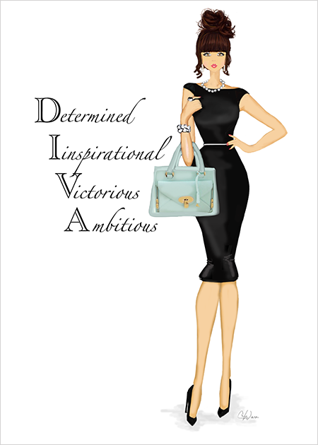 Diva Greeting Card