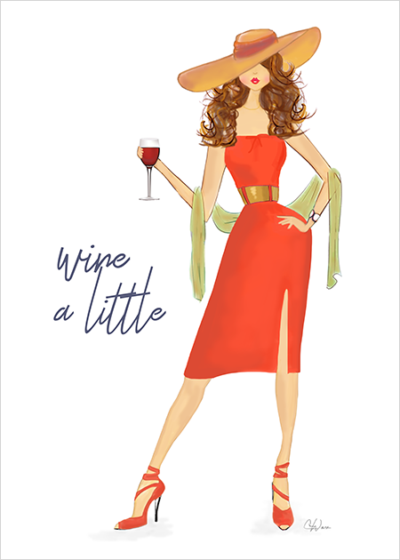 Wine a Little Card