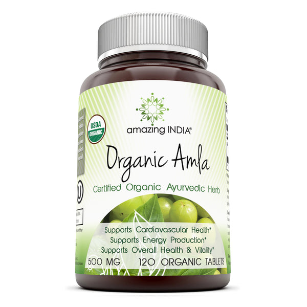 Amazing India Organic Amla 500 Mg 120 Organic Tablets