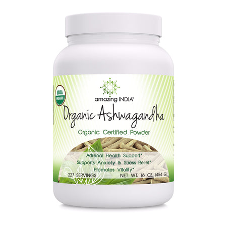 Amazing India Organic Ashwagandha Root Powder 16oz