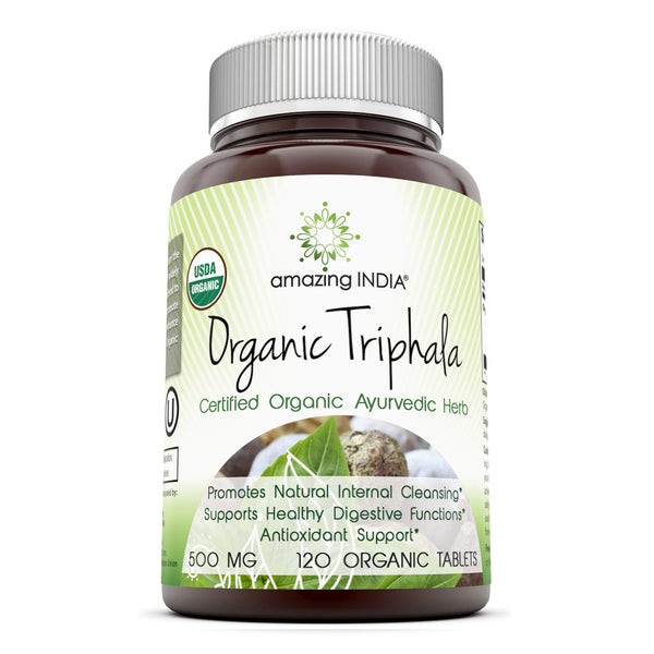 Amazing India Organic Triphala 500 Mg 120 Organic Tablets
