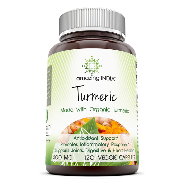 Amazing India Turmeric 500 Mg 120 Capsules