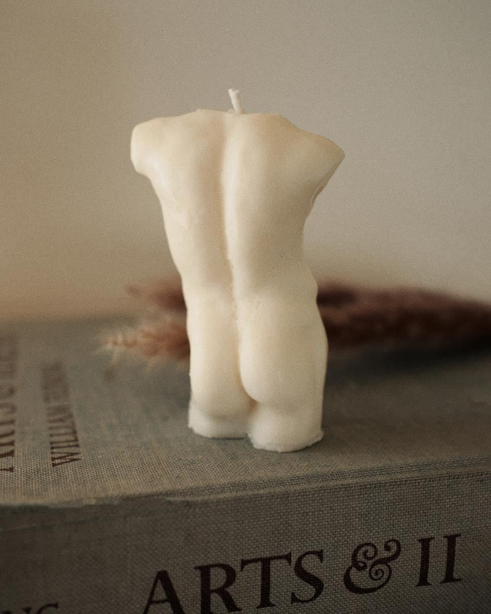 Body Shape Handmade Soy Candle (man)