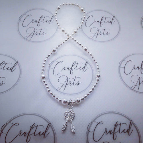 Sterling Silver Dream Catcher Anklet