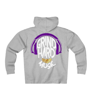 GrindHardMusic Unisex Heavyweight Fleece Zip Hoodie