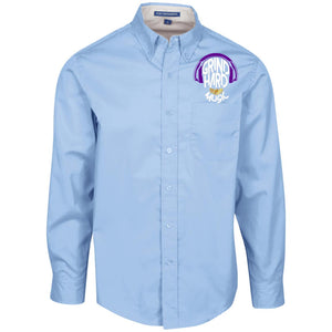 GrindHardMusic Men's LS Dress Shirt
