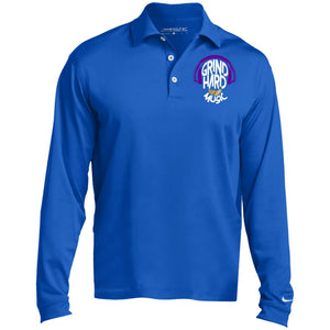 GrindHardMusic Nike Long Sleeve Polo