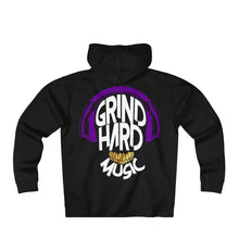 Load image into Gallery viewer, GrindHardMusic Unisex Heavyweight Fleece Zip Hoodie