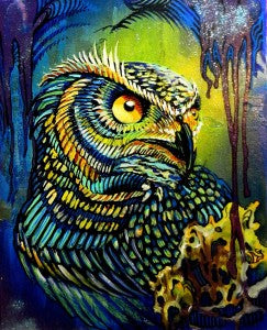 Jungle Owl Print