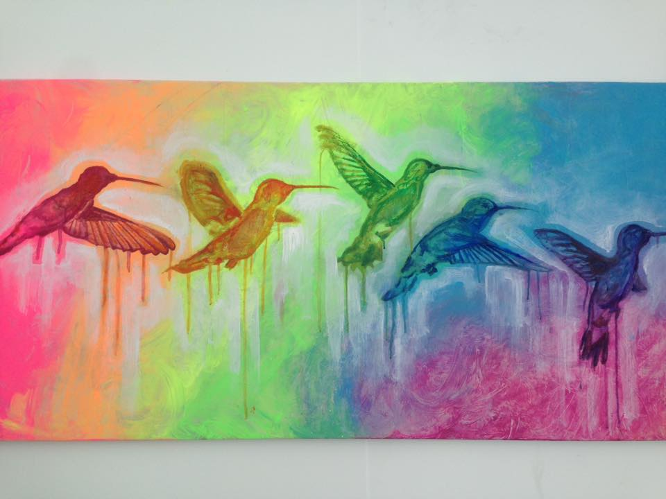 Rainbow Hummingbirds Original