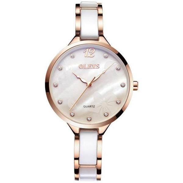 Luxury Rose Gold Ceramic  Watch