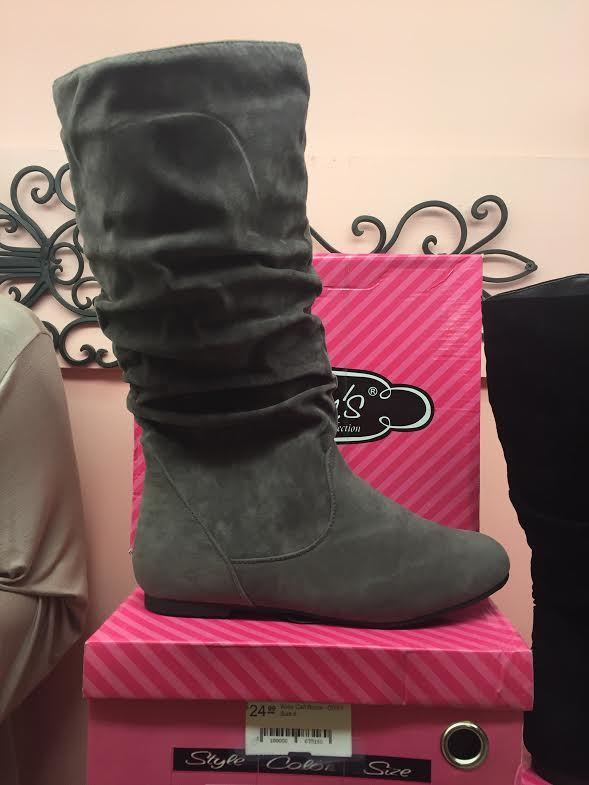 SHOES {Karyn's Collection} Wide Calf Boots~ GREY-
