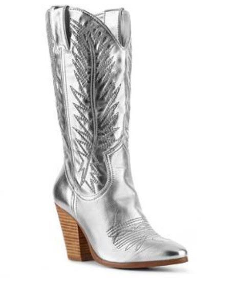 SHOES {Miranda Lambert} Platinum Wide-Calf Boots