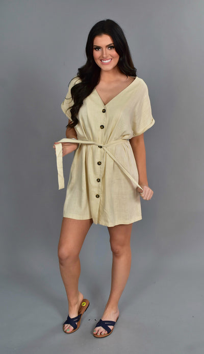 SSS-M {Keeping Promises} Beige Linen Dress