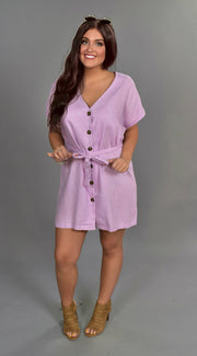 SSS-M {Keeping Promises} Lavender Linen Dress