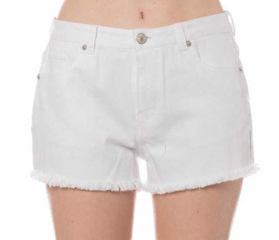BT-X {Hello Happiness} White Denim Shorts Fringe Hem SALE!!