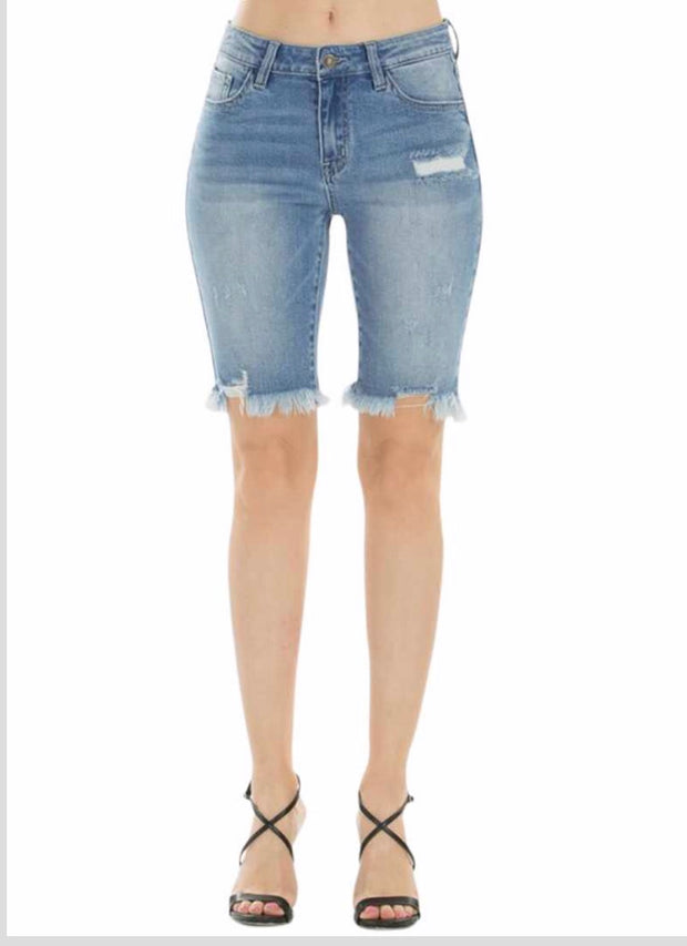 BT-C {Hang With Anybody} High Rise Denim Shorts