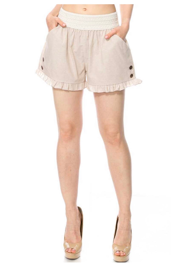 BT-P {Your Best Bet} Taupe Shorts with Elastic Band Waist SALE!!