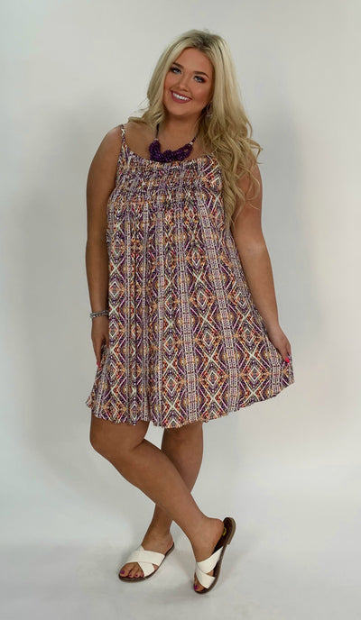 SV-C {Just What I Need} Multi-Color Aztec Printed Dress SALE!!