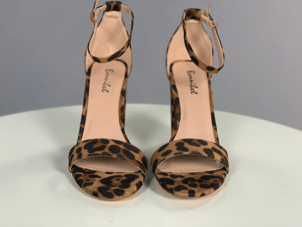 SHOES {Killer Vibes} Leopard Print Suede Ankle Strap Heels
