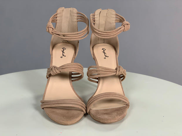 Shoes {Make Your Own Way} Taupe Multi Strap Heels