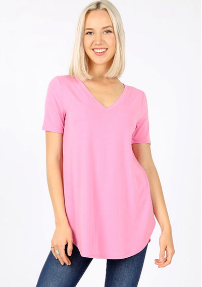 SSS-E {Coming Along} Soft Pink V-Neck Top