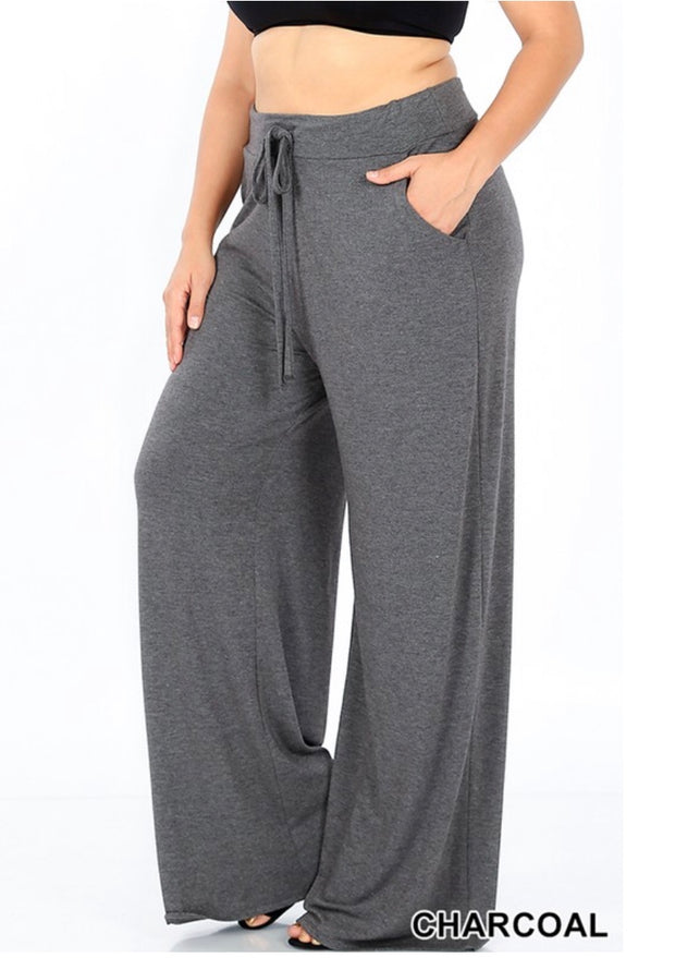 BT-X {Pressed For Time} Charcoal Lounge Pants W/ Drawstring