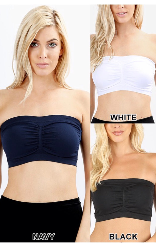 BRA {Top Notch} White Padded Bandeau