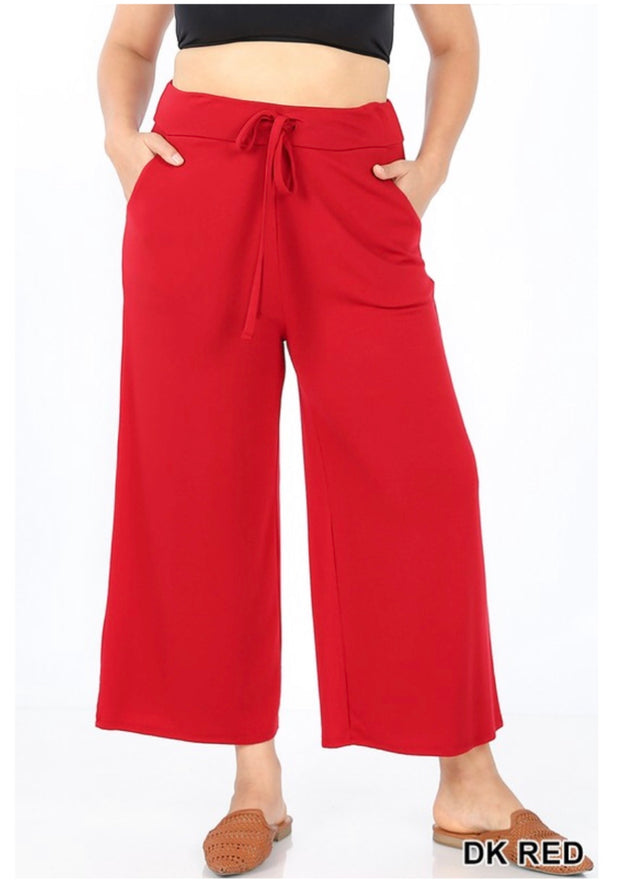 BT-X {Going Nonstop} Red Yoga Capri Pants W/ Drawstring