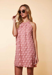SV-B {Dramatic Entrance} Mauve Dress with Loose Petals
