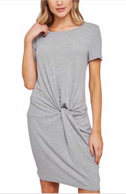 SSS-A {Come Find Me} Heather Gray Dress with Knot Detail