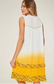 SV-D {Bring The Sass} Sleeveless Layered Gold Top with Lining