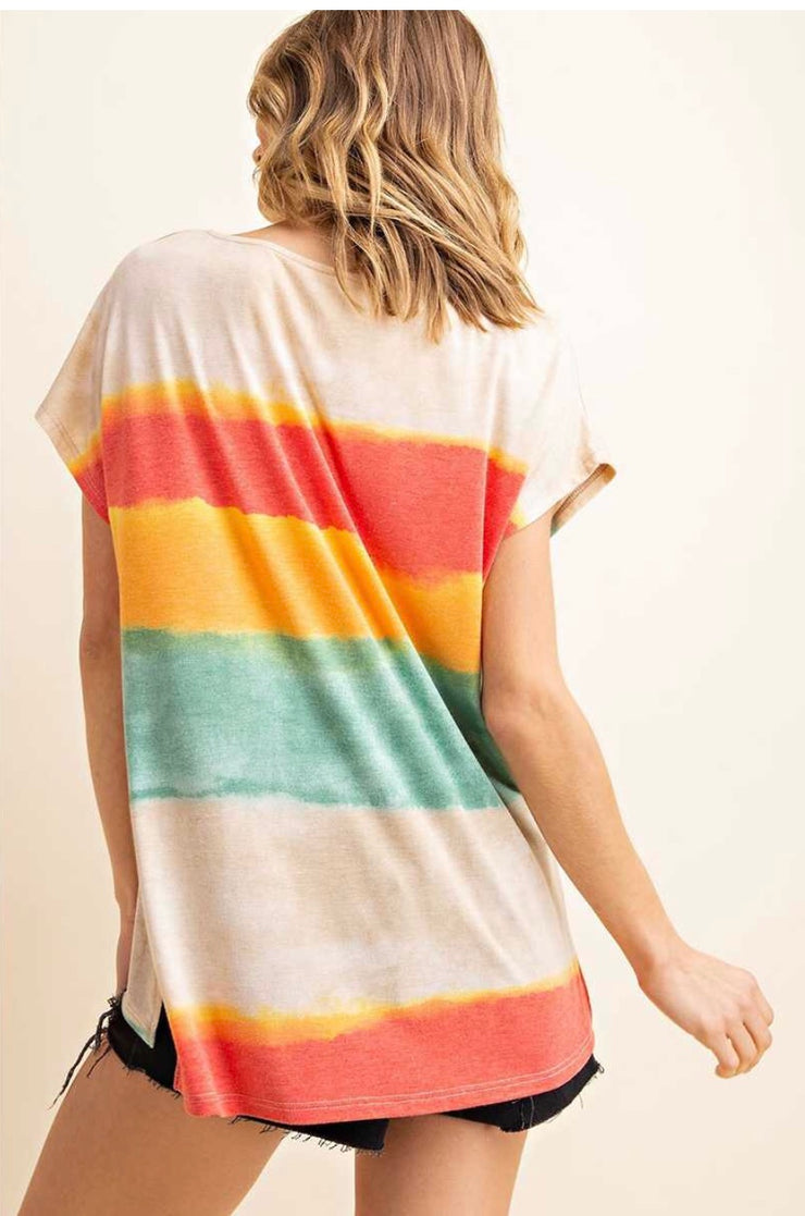PSS-A {Beyond The Horizon} Gradient Tie-Dye Top