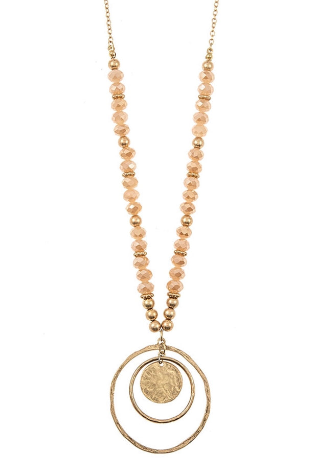 NC-C {Been Around The World} Lovely Beaded Chain with Multi circle pendant
