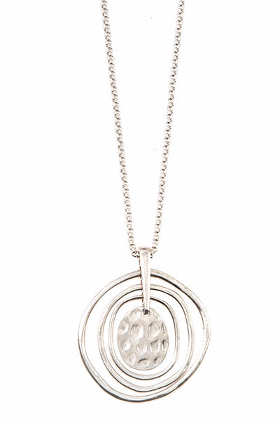 NC-C{It's All Good} Layered Circle Pendant Necklace
