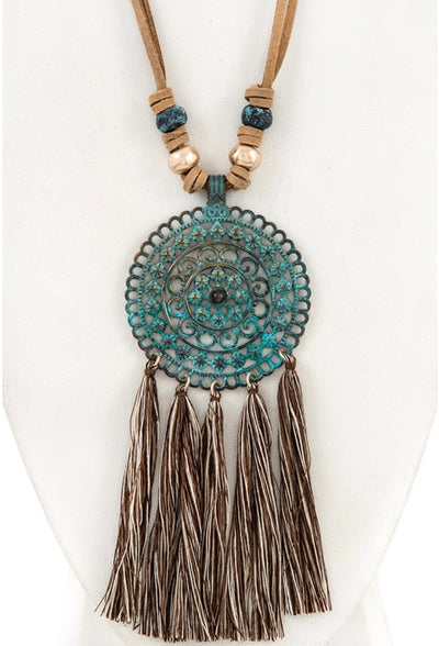 NC-D{Road Trip} Mandela W/ Tassel Detail Necklace